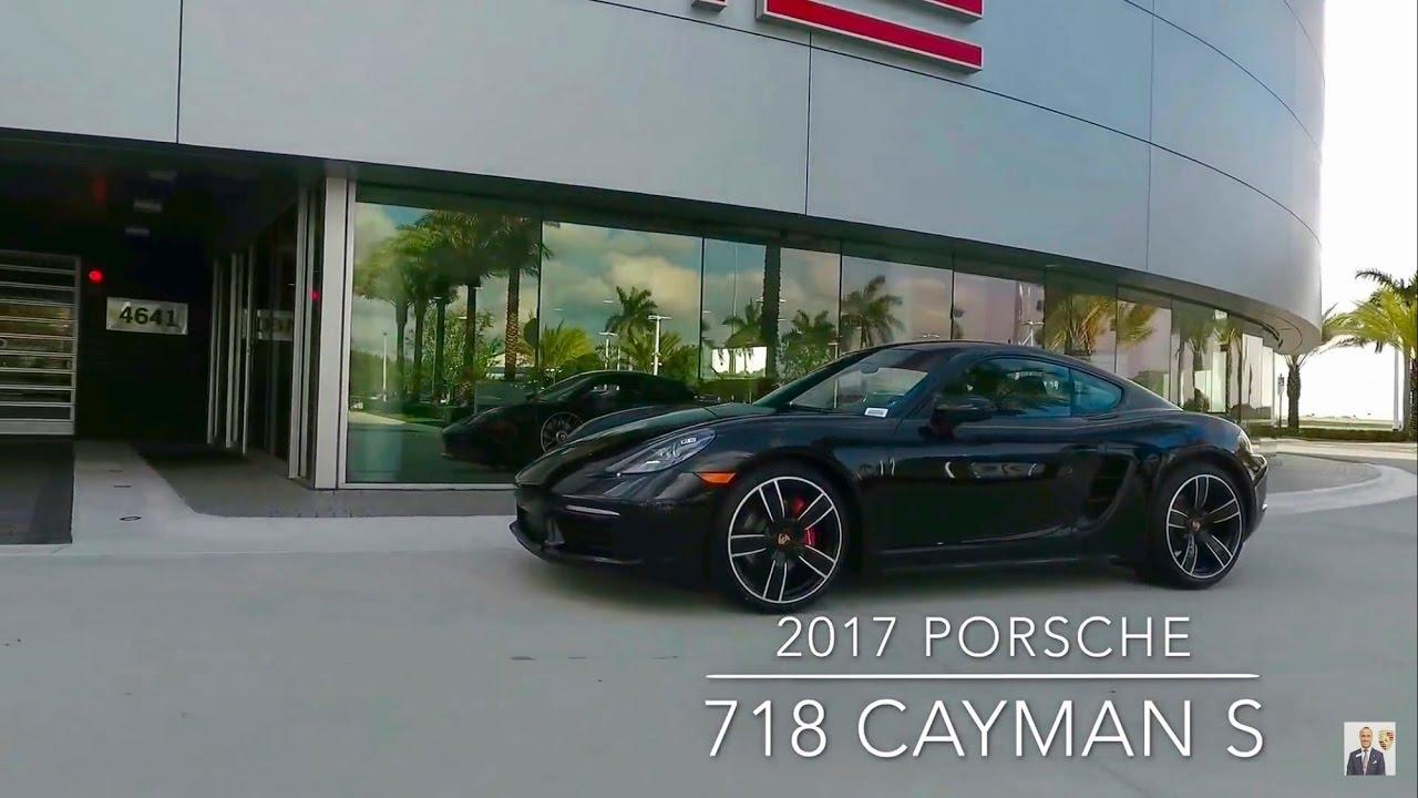 2017 Jet Black Porsche 718 Cayman S 350 Hp West Broward