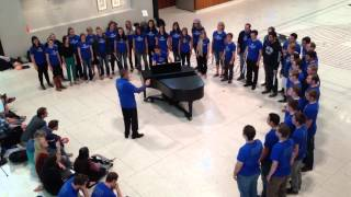"BYU Singers performing Colin Mawby's ""Ave verum corpus."""