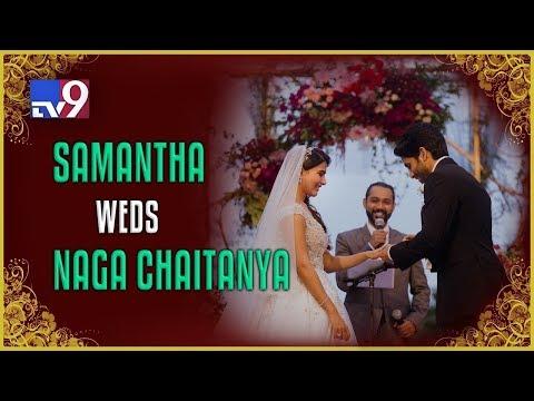 Love birds Chaitanya & Samantha tie the knot  TV9