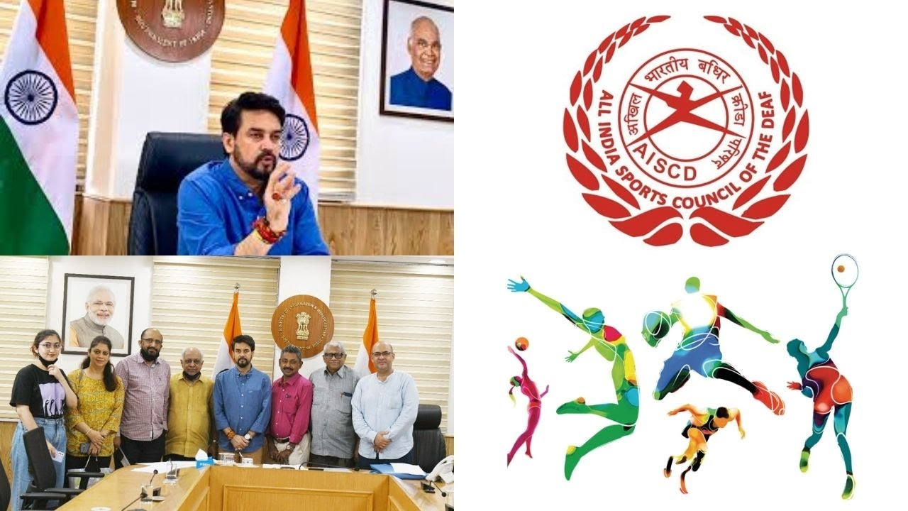 AISCD met Union Minister of Sports submitted demands benefits of Sportsperson