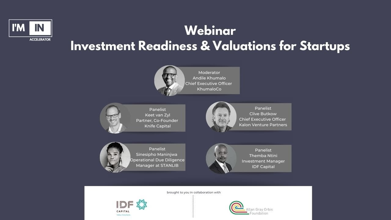 I'M IN Accelerator Investment Readiness & Valuations Webinar