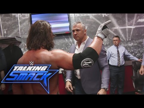 AJ Styles and Shane McMahon\'s confrontation spins out of control: WWE Talking Smack, March 7, 2017