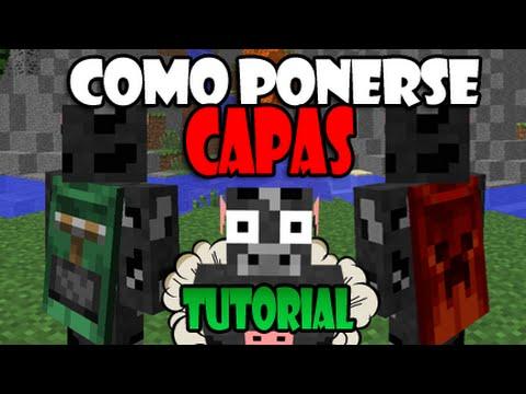 COMO PONERSE CAPAS EN MINECRAFT GRATIS YouTube - Skins para minecraft 1 8 con capa