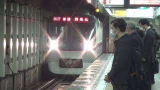112日目:東日本橋到着 5315- 01T 普通 西馬込行(5300形 5315編成 都営浅草線 東日本橋駅)