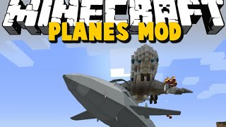 Minecraft: AIRPORT MAYHEM, FLYING PLANES - PLANES MOD SHOWCASE - Brothers Minecraft [05]