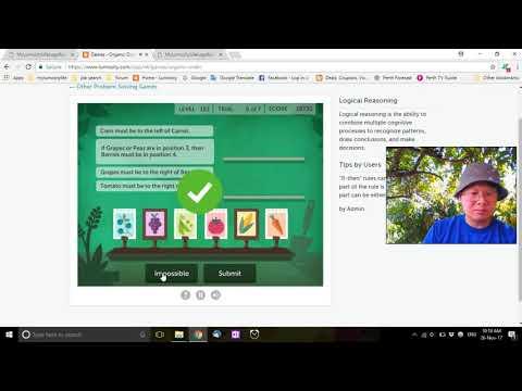 Let's Play - Lumosity - Organic Order - 23190 Score - Brain Games 2017