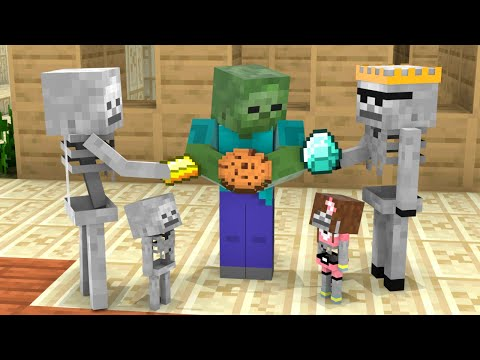 Monster School : Poor and Rich - Baby Skeleton Boy and Girl Life - Minecraft Animation