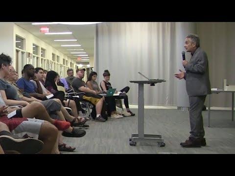 Thomas Suárez at the University of Massachusetts, Amherst, September, 2017