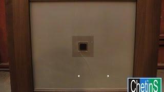 видео Замена стекла в межкомнатной двери своими руками