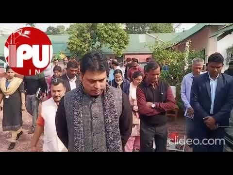 CM Biplab Deb Was Spotted Scolding MLA Krishnadhan Das