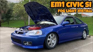 AHC Shop Hours - Honda Civic Si EM1 OEM Fog Light Installation Guide and Type-R Part