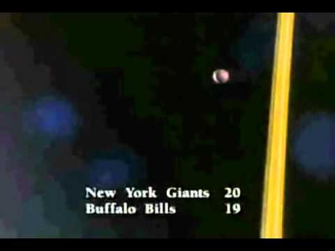 Scott Norwood Missed Field Goal Super Bowl XXV