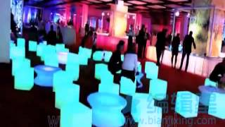 Led Chair And Led Table For Event As Outdoor Led Furniture