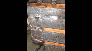 Refurbished Humpback Trunk - Steamer Trunk