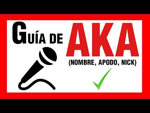 Consejos para escoger un A.K.A. / Apodo / Nick