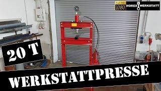 20t werkstattpresse hydraulikpresse shop press werkzeug tipp oldtimer restaurierung. Black Bedroom Furniture Sets. Home Design Ideas