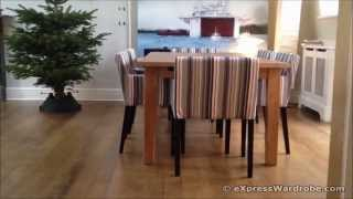 Ikea Stornas Extendable Dining Table, Nils Chair With Armrests Design