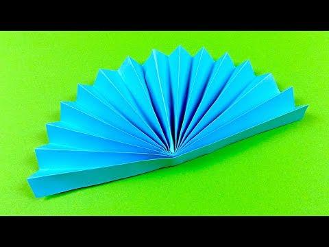 How to make a Paper Fan - Origami FAN