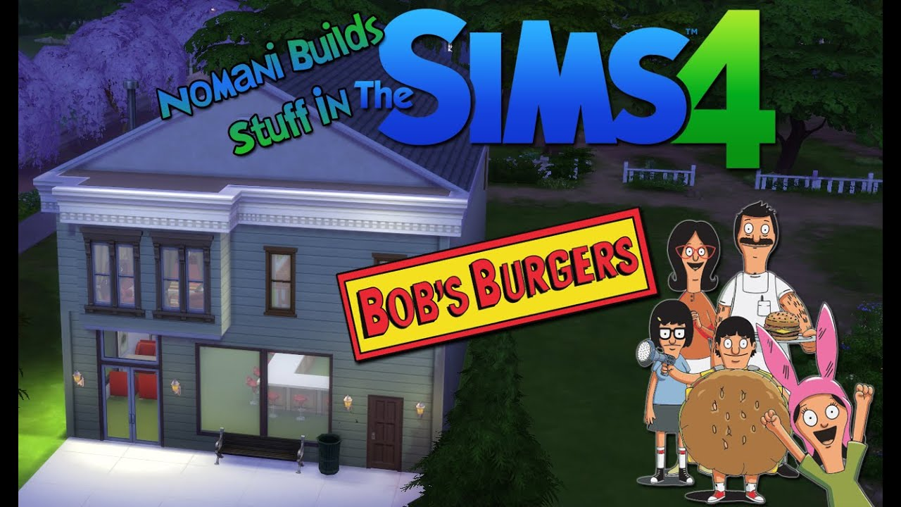 Bob S Burgers Restaurant And Apartment The Sims 4 Speed Build Youtube