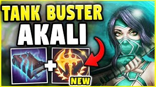 THIS BUILD JUST ENDED THE TANK META! TANK BUSTER AKALI DESTROYS ANY TANK! - League of Legends