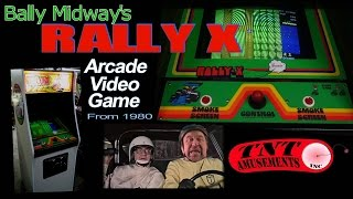 #1034 Bally Midway RALLY X Arcade Video Game Restoration -TNT Amusements