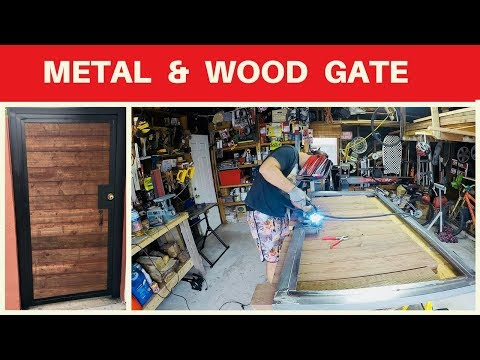 diy Metal And Wood Entry Gate