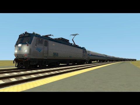 TS2015 HD: Amtrak Northeast Regional Trains @ Westerly, Rhode Island (10/27/14 Route Skeleton WIP)