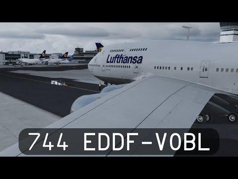 Prepar3d V4.1 - Lufthansa 747-400 - Frankfurt to Bangalore (EDDF-VOBL)