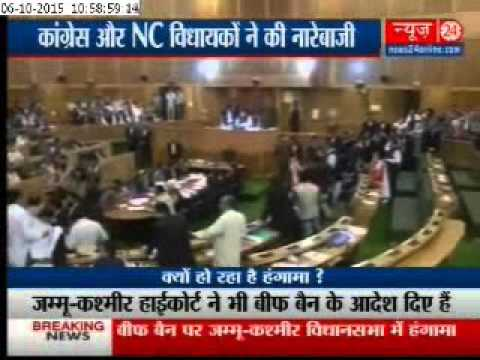 J-K Assembly session over suspension of two MLAs