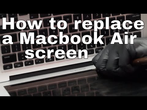 How to replace A1466 Macbook Air screen updated video.