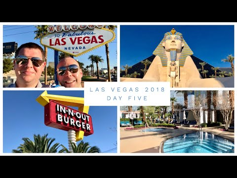 Las Vegas Vlog - March 2018 - Day 5 - Las Vegas Sign, Mandarin Spa, In & Out Burger
