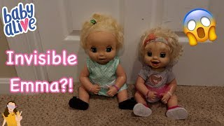 Pranking Baby Alive Emma With Invisible Sibling Prank | Kelli Maple