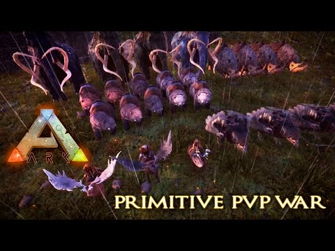 KING OF THE HILL ARK PVP WAR - Primitive pvp, friendly controlled war for prizes!