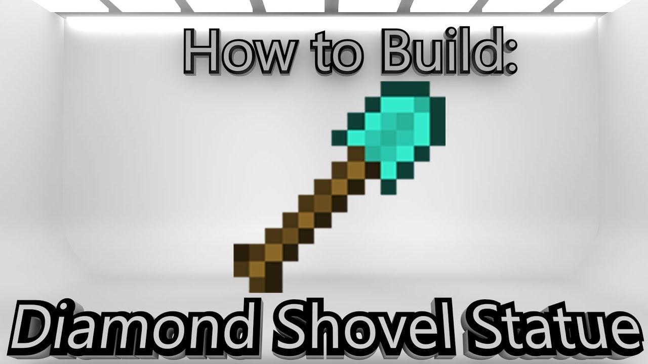 Minecraft: How To Make A Diamond Shovel Statue - YouTube