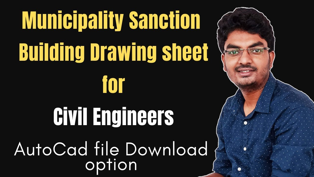 Building Drawing For Municipality Or Panchyet Approval Useful For Civil Engineers And Architect Youtube