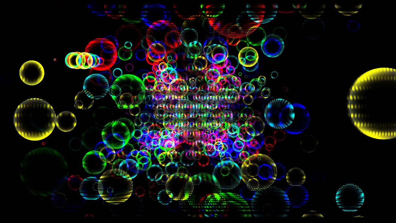 4K Ultra HD Rainbow Bubbles Free Animation Background