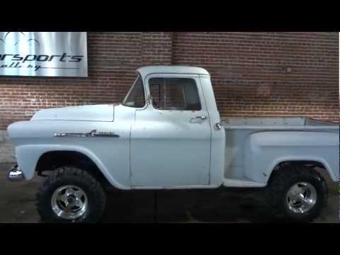 BARN FIND!! RARE 1958 Chevrolet Apache 4x4 NAPCO Pickup Truck
