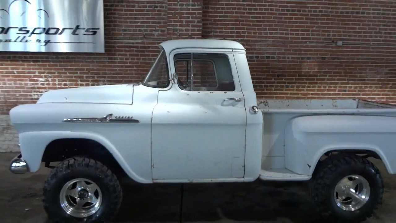 Barn Find Rare 1958 Chevrolet Apache 4x4 Napco Pickup Truck Youtube 1950 To 1960 Chevy Trucks