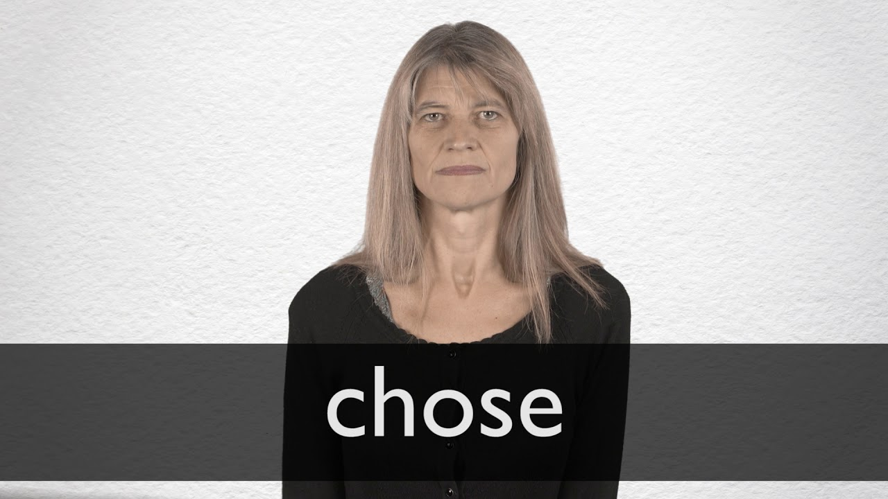 How to pronounce CHOSE in British English