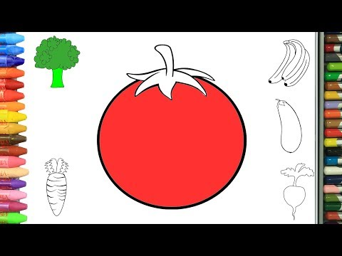 RENK RENK SEBZELER nasıl yapılır nasıl çizilir   Boyama ve resim yapma videoları