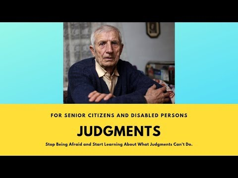 Why Most Senior Citizens Don't Need To Be Afraid Of Judgment