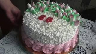 Украшение торта на Юбилей 55 лет!торт для женщины на 55 лет