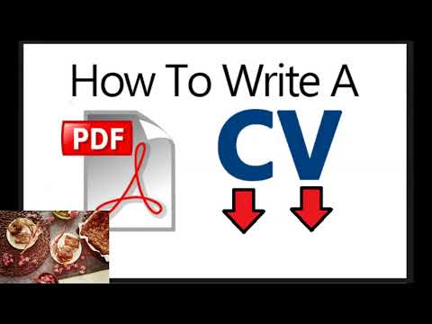 Are You Looking For Tips  How To Write Cv Pdf