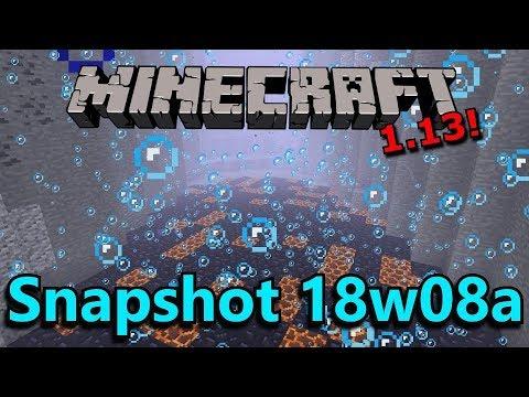 Minecraft 1.13 Snapshot 18w08a- Underwater Ravines, New Ocean Biomes, Flooded Caves!