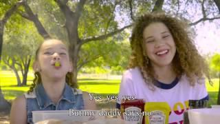 haschak sisters - daddy says no lyrics on screen