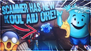 *RETARDED* Scammer Has New KOOL AID ORE!! (Scammer Gets Scammed) Fortnite Save The World PVE