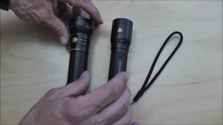 Fokussierbare LED Taschenlampen Fenix FD40 und LED Lenser P7R im Vergleich