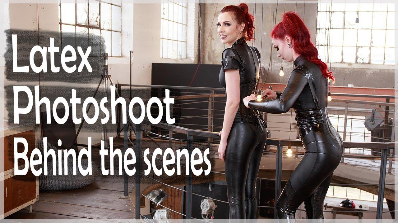 Behind The Scenes Latex Demi Rose stuns in latex