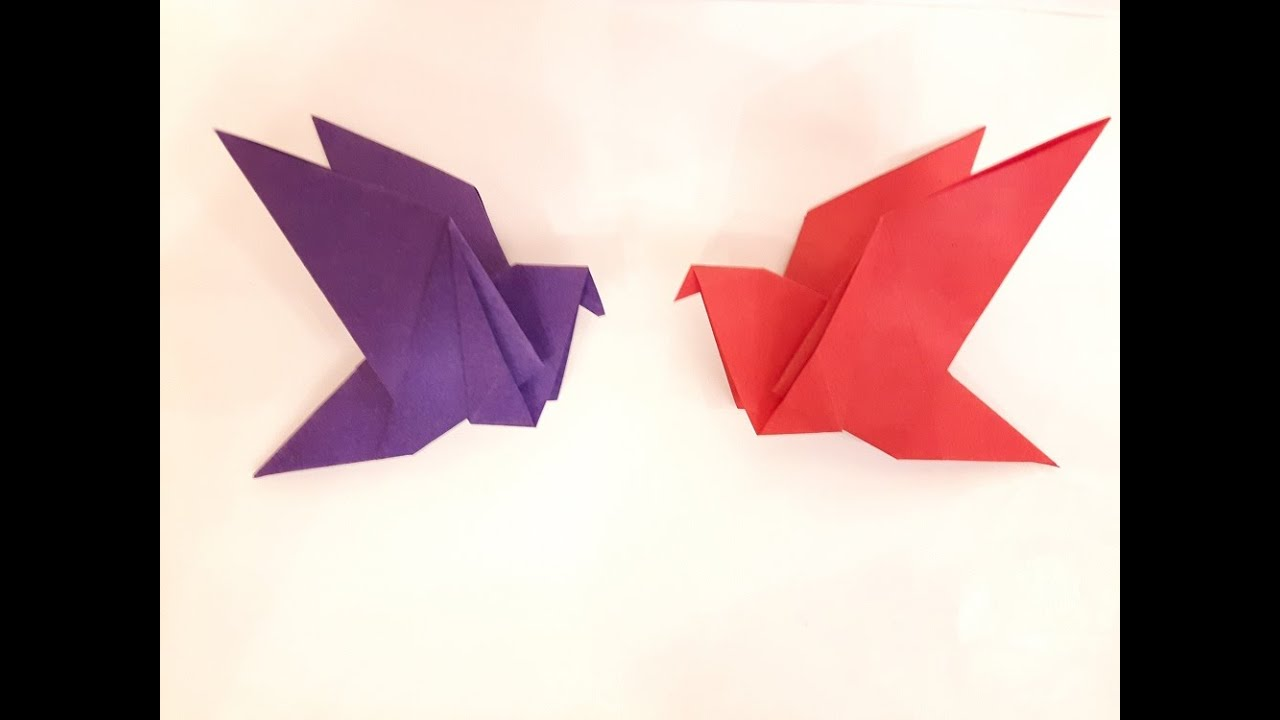 How To Make A Paper Flapping Bird Easy Youtube