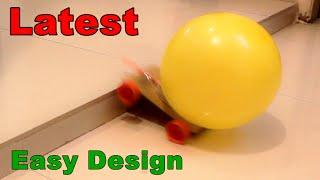 Hoe maak je een Ballon-Aangedreven Auto - Zeer eenvoudig - Project voor kinderen